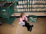 Even the little ones got involved in the shopping at Bass Pro Today