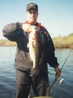 Craig with a bass caught on a tube