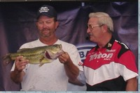 Marty Strickland with his day two big bass of 5.47lbs.