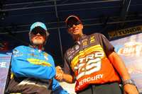 Kevin VanDam and Rick Clunn paired for Day Three Head to Head