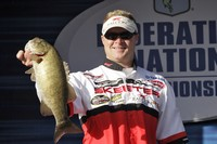 Scott Parker of Londonderry, N.H., brought one fish to the scales