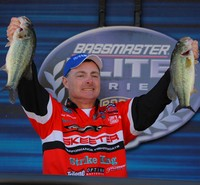 Mark Menendez holds a couple of his winning stringer