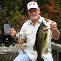 Dave DeRemer shows off a nice bass caught on the King Shad