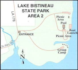 Lake Bisteneau State Park road map