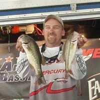 Mike Cork with two Lake Greenwood Bass