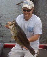 Mike Cork and a Largemouth bass