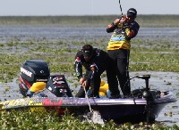 Weather continued to play a factor for anglers on Lake Okeechobee on Saturday