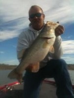 Shawn Grant on Lake Falcon