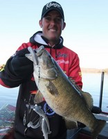 Dustin Grice with a nice bass caught on an A Rig