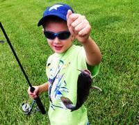 Young man and his catfish