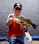 Bubba and his first bass