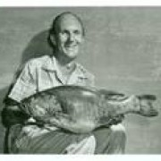 David Hayes with the world record smallmouth bass.