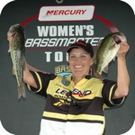 Michelle Armstrong Legend Boats Pro, who weighed in four fish for 8-6 and second place.