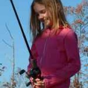 Logan Redd fishing with her Dad.