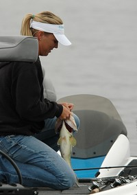 Tammy Richardson of Amity, Ark., moved up to second on the second day of the Lake Guntersville WBT event. - BASS Communications