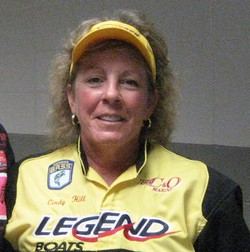 Cindy hill Legend Boats Pro Staff Leads WBT