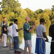 Inner-City Kids Enjoy Fishing with Philadelphia Eagles -Ike Foundation