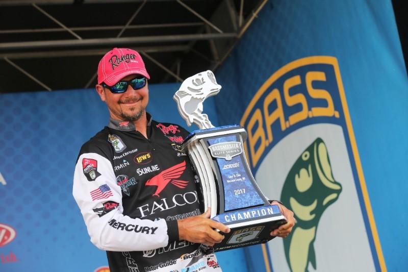 Jason christie wins lake st clair elite series event for Jason christie fishing